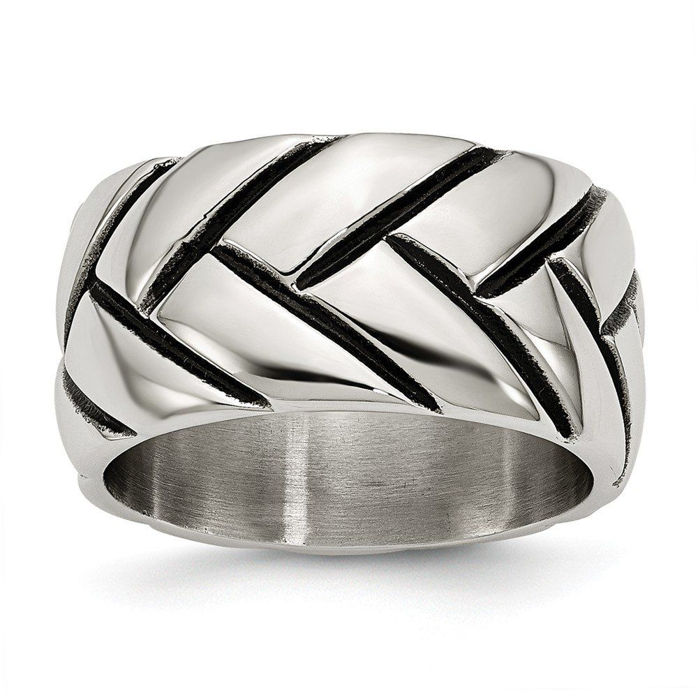 CloseoutWarehouse Sterling Silver Wraparound Open Leaf Ring