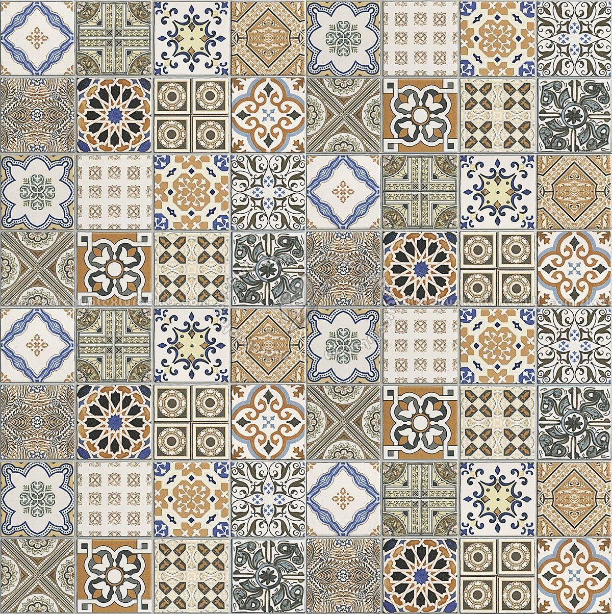 Patchwork Tile Texture Seamless 16610 Azulejos Pintados Mosaicos