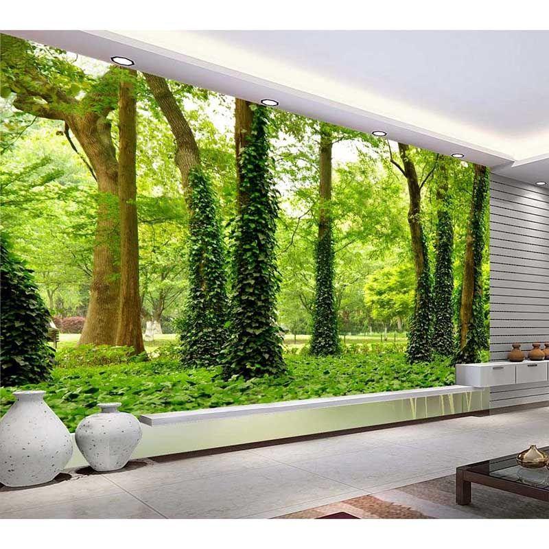 Barato hd foto personalizado papel de parede 3d floresta - Papel de pared barato ...