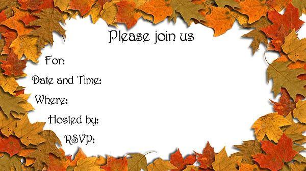 Free Autumn Party Invitations Templates  Autumn invitations, Fall party invitations, Party