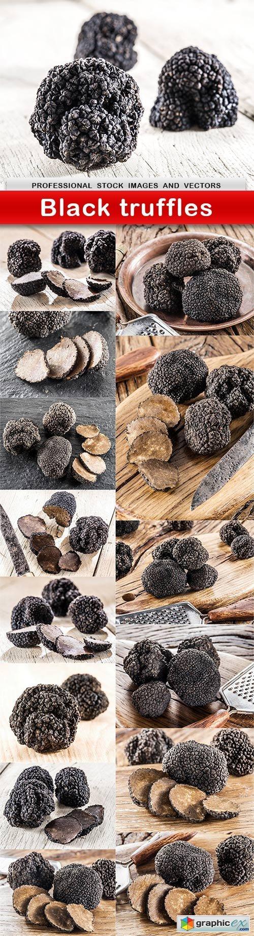Black truffles - 15 UHQ JPEG