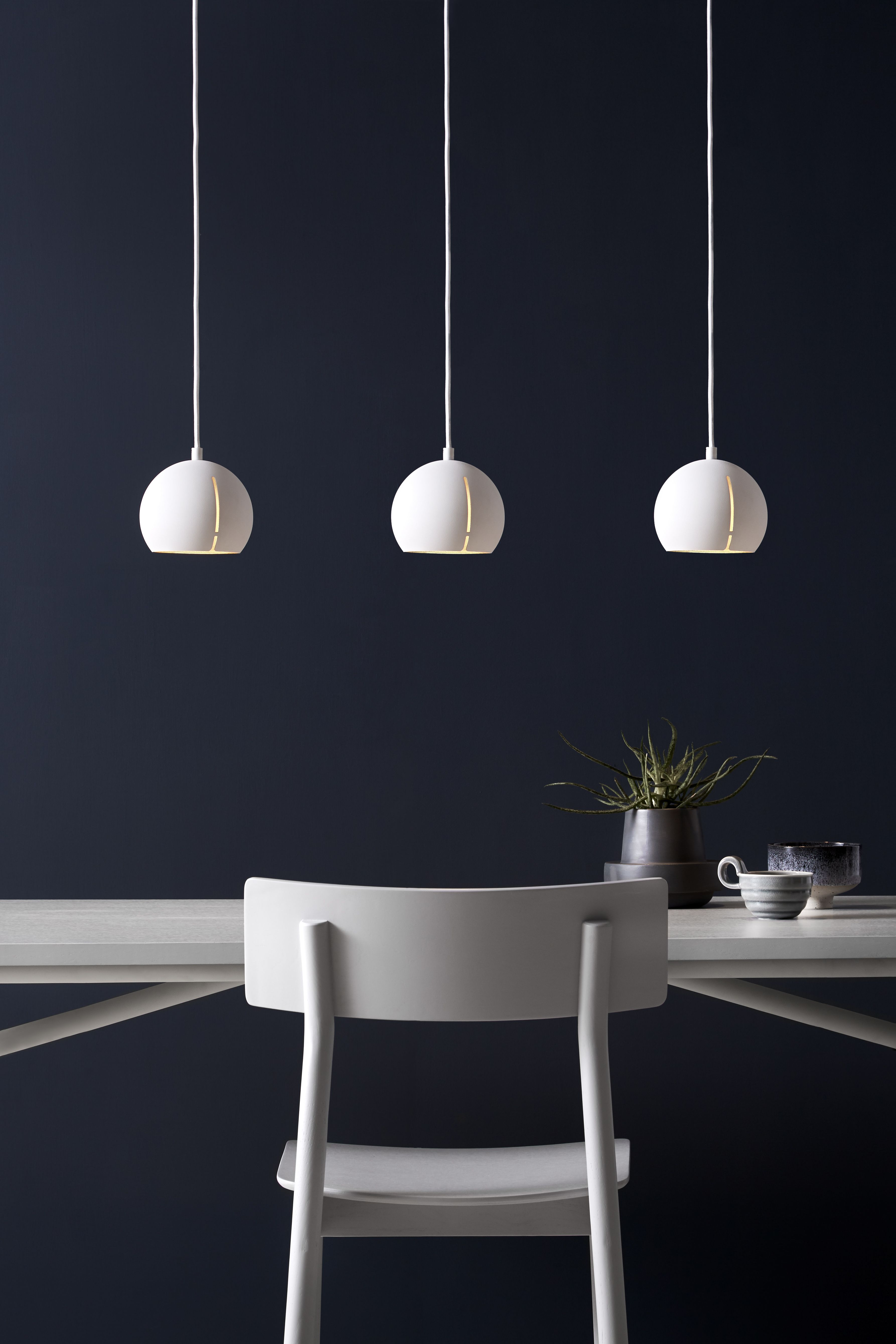 The Gap pendant is a ceiling light that combines a raw