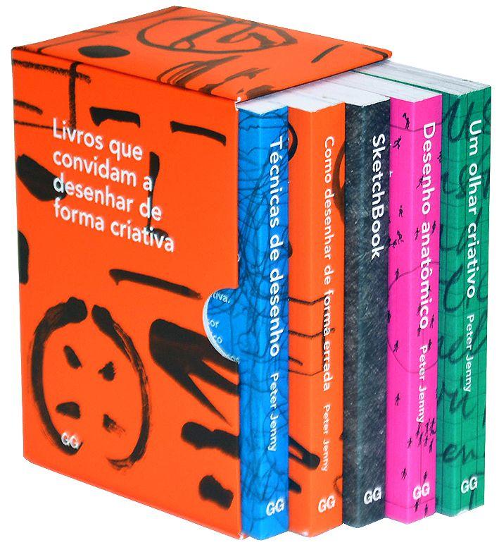Coleção Peter Jenny - Livros que convidam a desenhar de forma criativa  + SketchBook