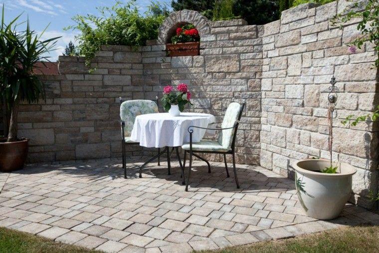 Muros en el jard n 75 ideas que te encantar n lugares for El jardin romantico