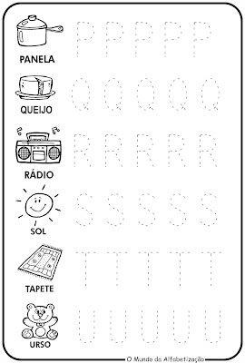 Treinando O Alfabeto Com Imagens Atividade Alfabeto Educacao