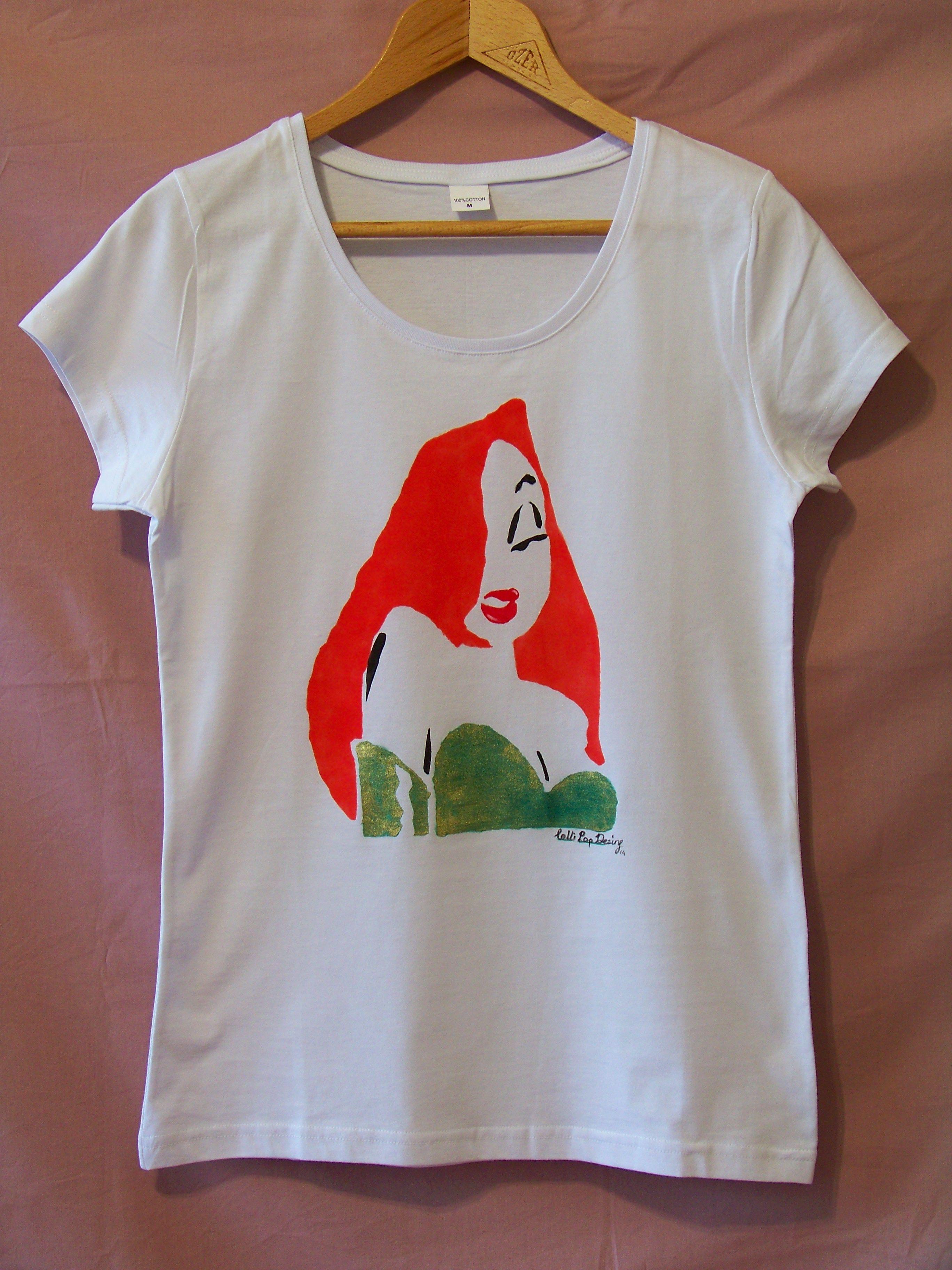 T shirt handmade design - Jessica Rabbit Thelollipopdesign Handmade Design Accessories Customdesign