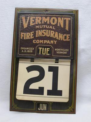 1909 Vermont Mutual Fire Insurance Co Montpelier Vt Perpetual