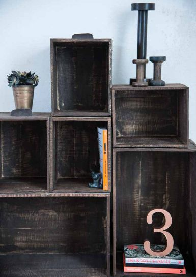 Beautiful wooden boxes with leather grips... Madam Stoltz collection available at deens.nl