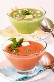 Sopa fría de tomate con albahaca y queso de cabra - Recetas