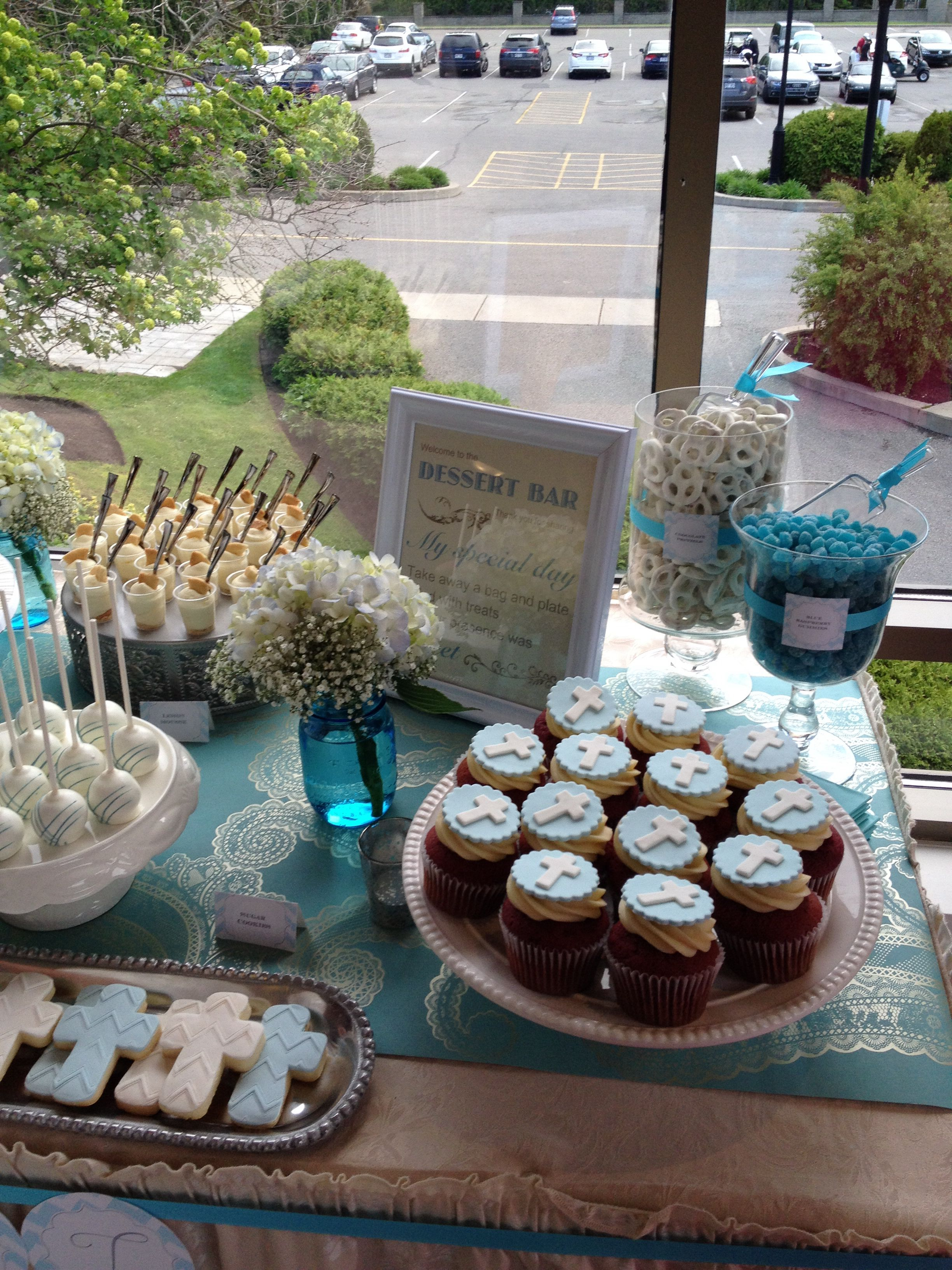 Confirmation Dessert Table By Three C Baking Cie Dessert Table Table Decorations Party