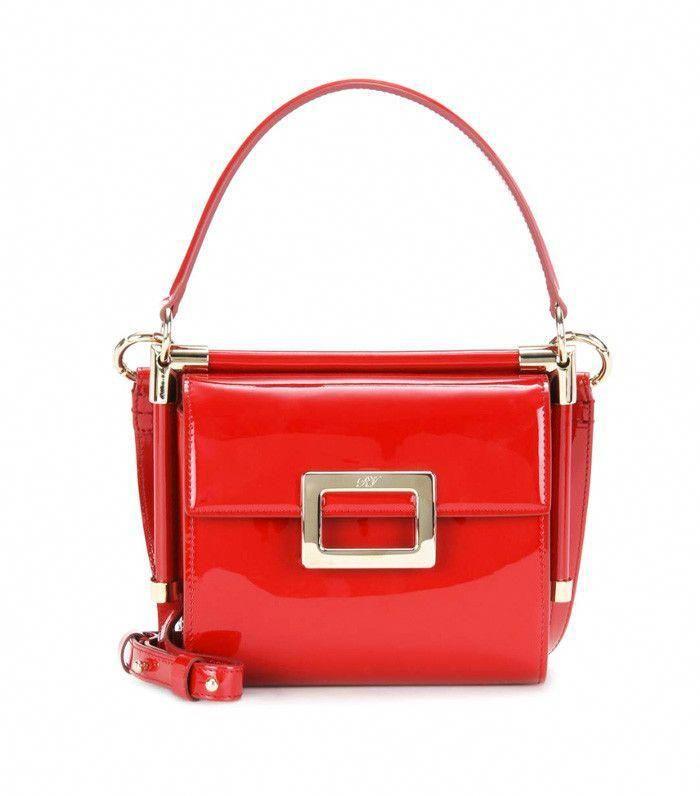 5685f8919b4f Roger Vivier Miss Viv  Carré Patent Leather Shoulder Bag  RogerVivier