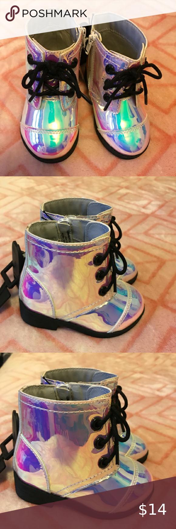 Infant Girl Boots 💖🌹HOST PICK🎉❤️🎈👑 Iridescent shine moto boot…