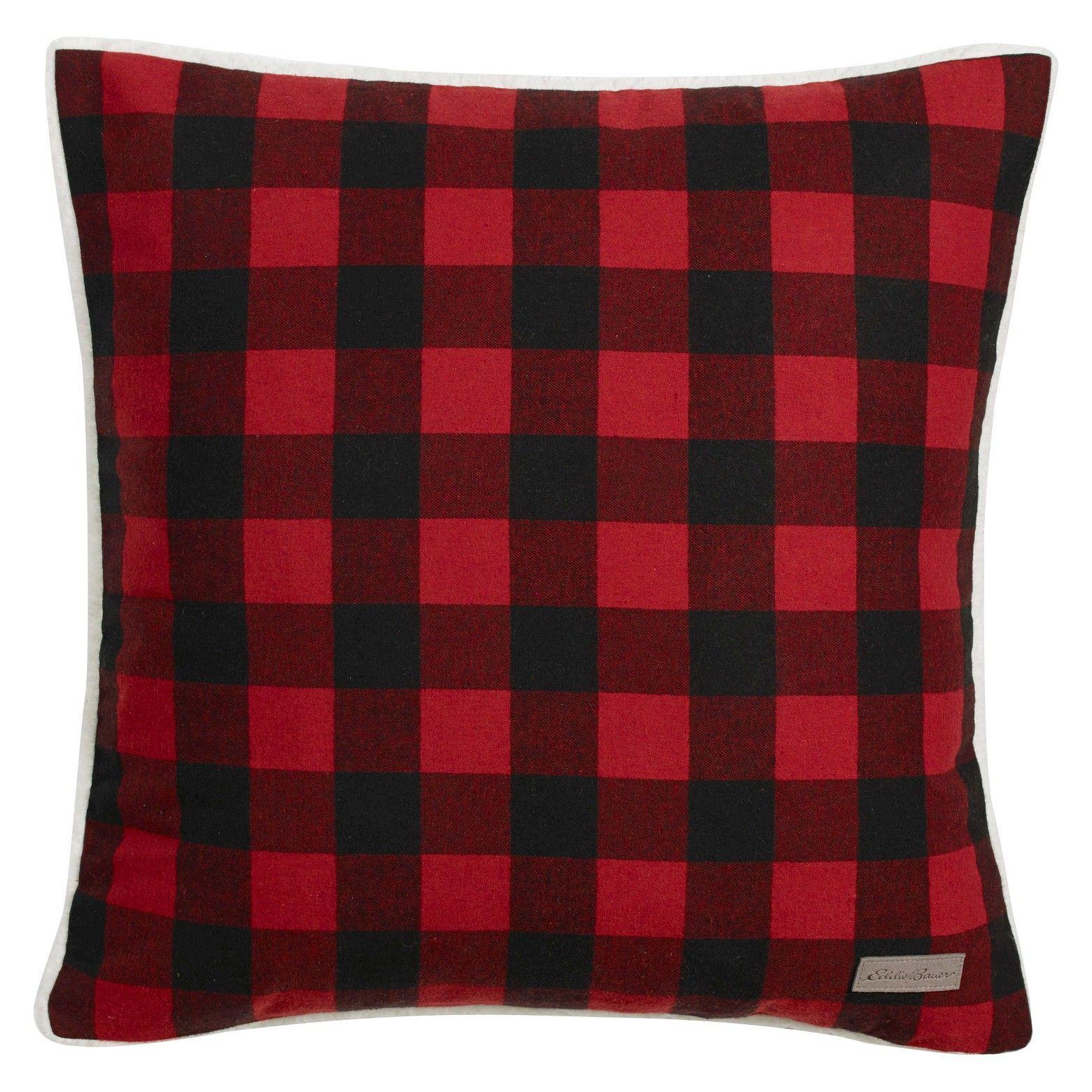 Cabin Plaid Flannel Sherpa Throw Pillow