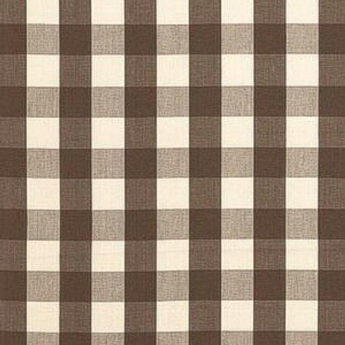 Schumacher Camden Cotton Check Java Fabric - Schumacher Camden Cotton Check Java Fabric / CAMDEN COTTON CHECK / JAVA