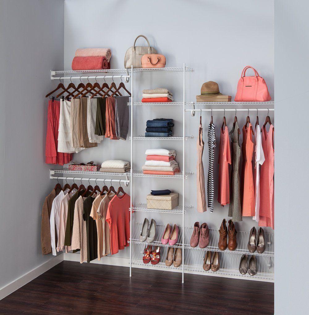 Amazon.com: ClosetMaid 5037 5ft. To 8ft. Fixed Mount Closet Organizer Kit