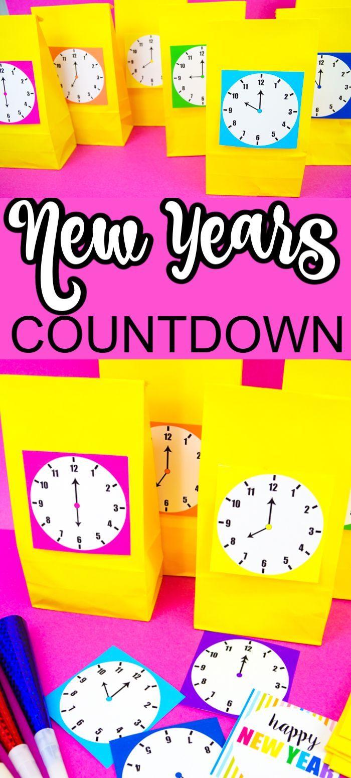 New Years Countdown Clock New years countdown, Kids new