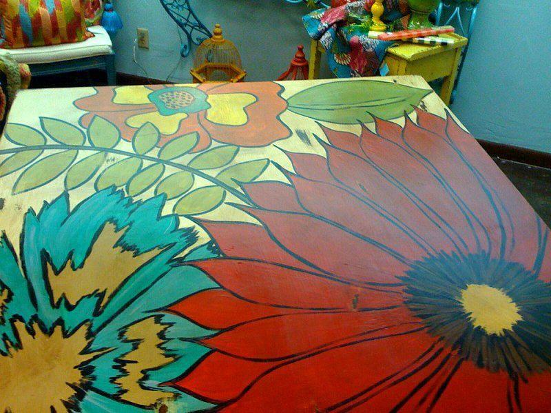 painted table top Art Pinterest - peinture sur meuble bois