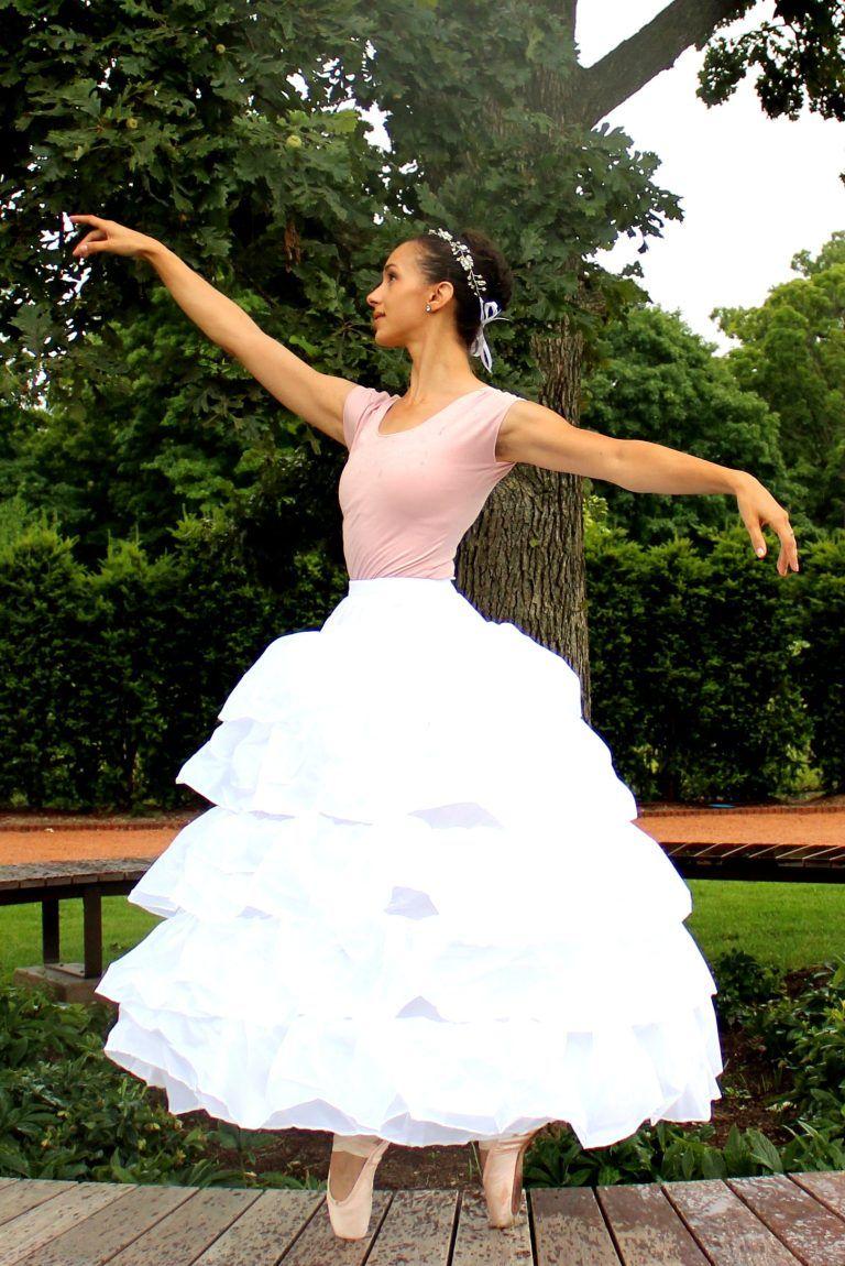 Rosalie Slip Four Hoop Ruffle Petticoat Slip Balle