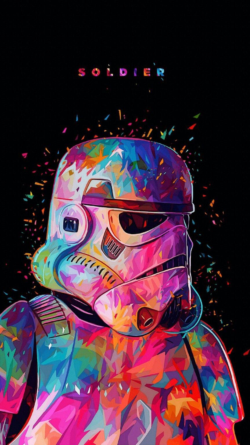 Stormtrooper illustration Star wars kunst, Star wars