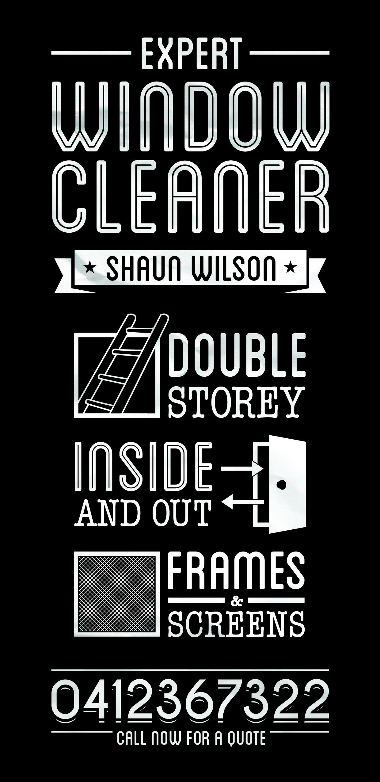 Window cleaning flyer design. | Graphic Design | Pinterest