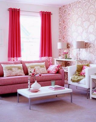 pink office idea | My dream Office | Pinterest | Living rooms, Room ...