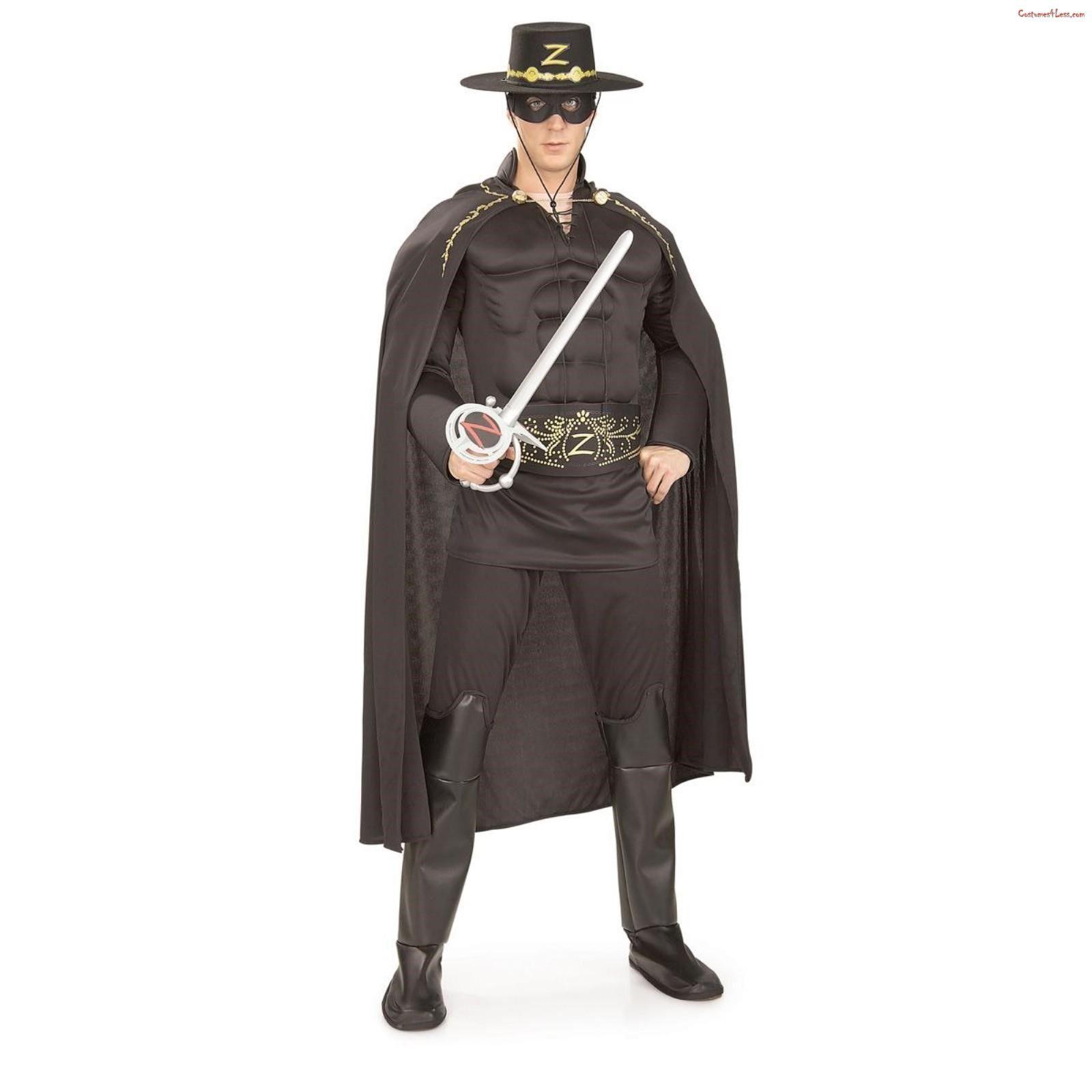 ZORRO-Deluxe Costume Adulto