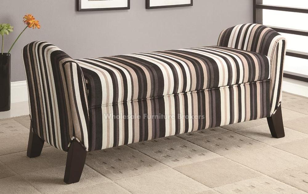 Drawing of Upholstered Bench with Storage