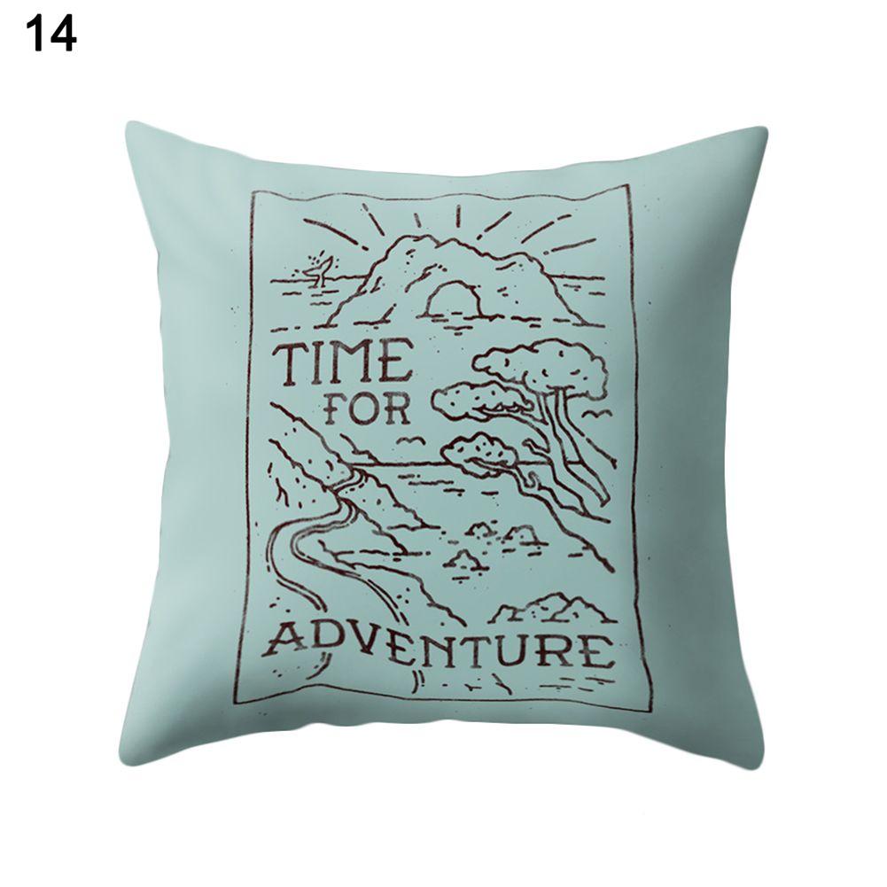 Simple design letter print throw pillow case cushion cover sofa room