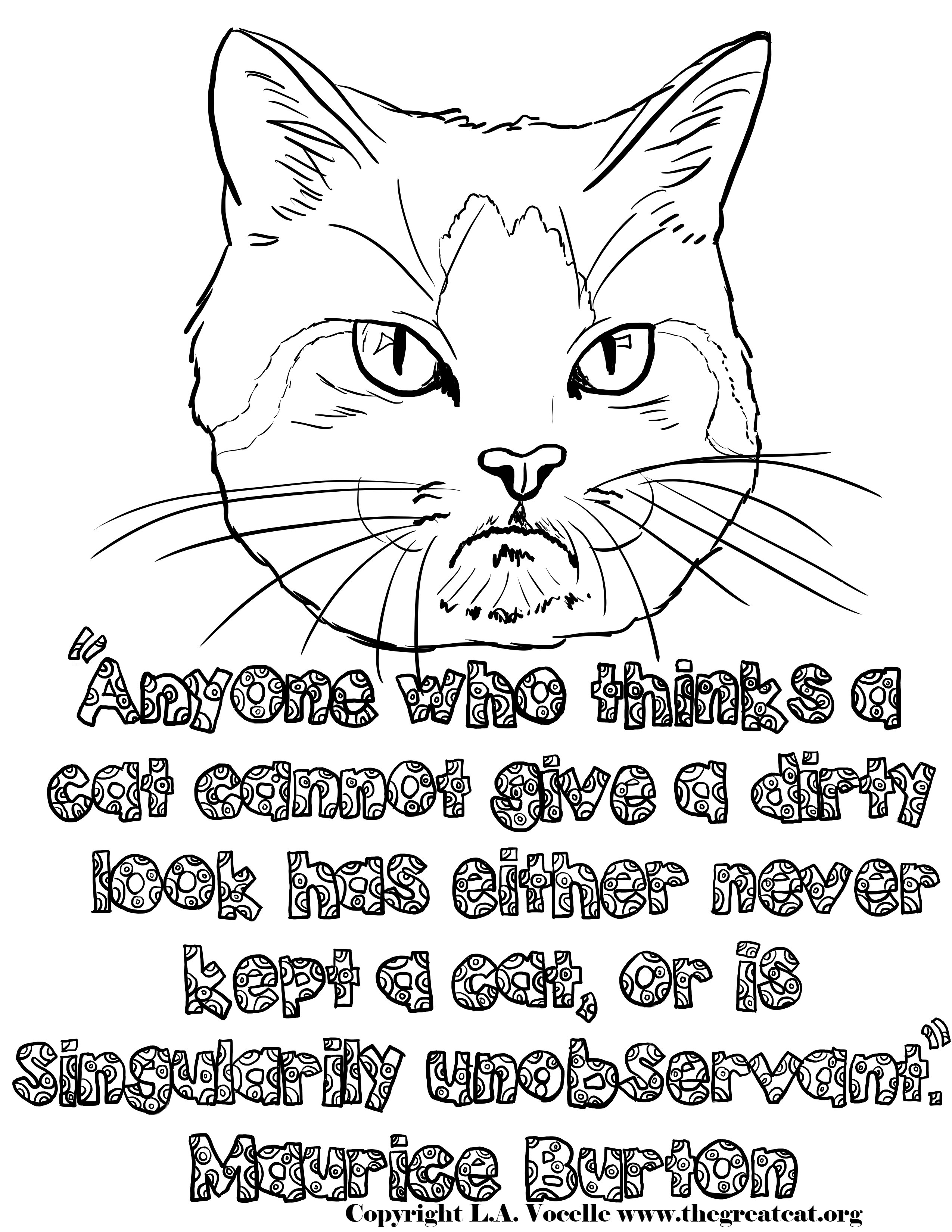 Free Coloring Pages Cat Coloring Book Cat Coloring Page Free Coloring Pages