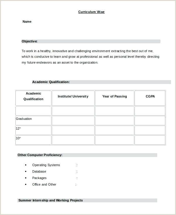 Indian Fresher Resume Format Download In Ms Word Resume Format