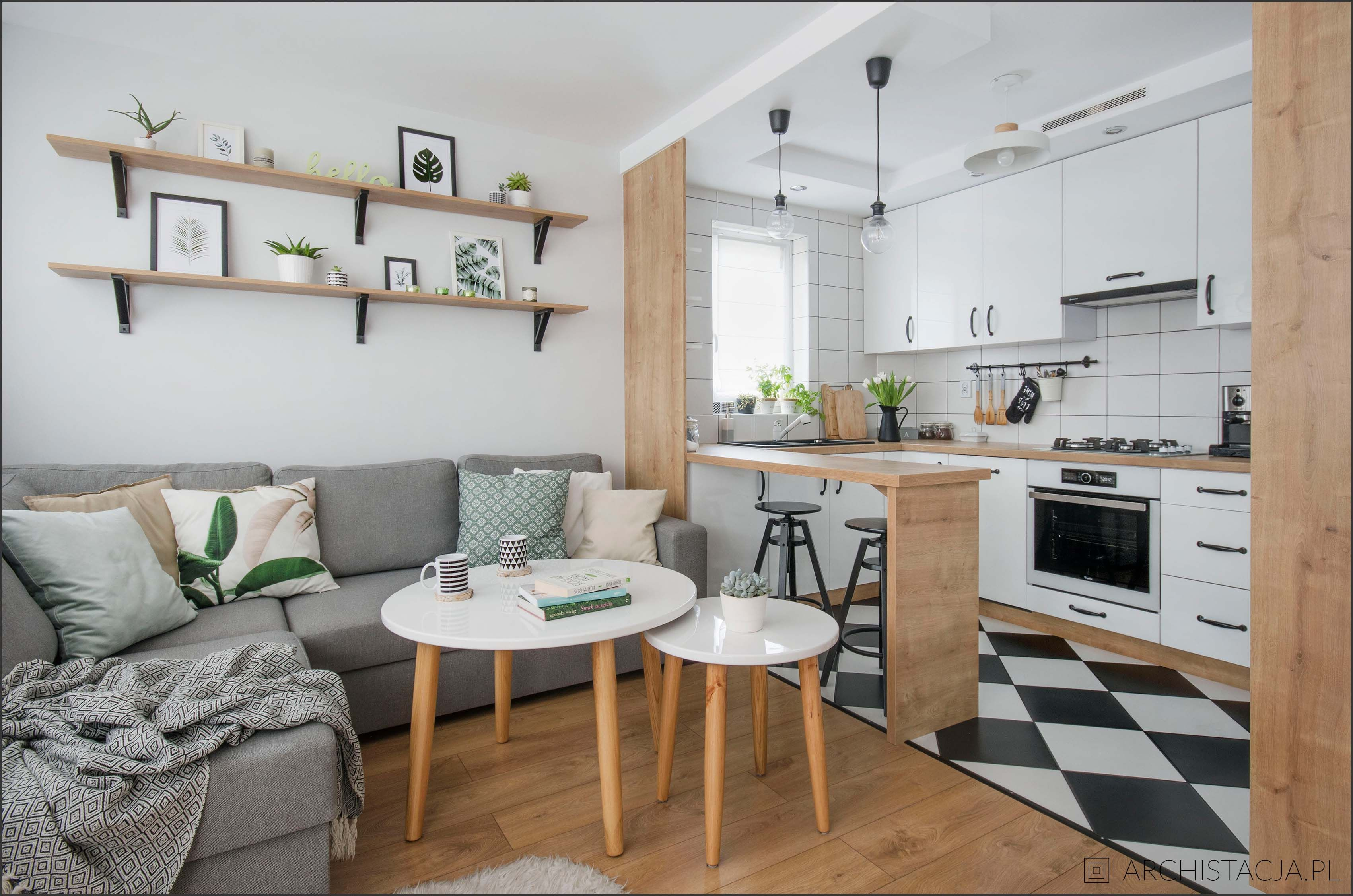 Znalezione Obrazy Dla Zapytania Salon Z Kuchnia W Bloku Living Room Kitchen Kitchen Inspirations Sweet Home
