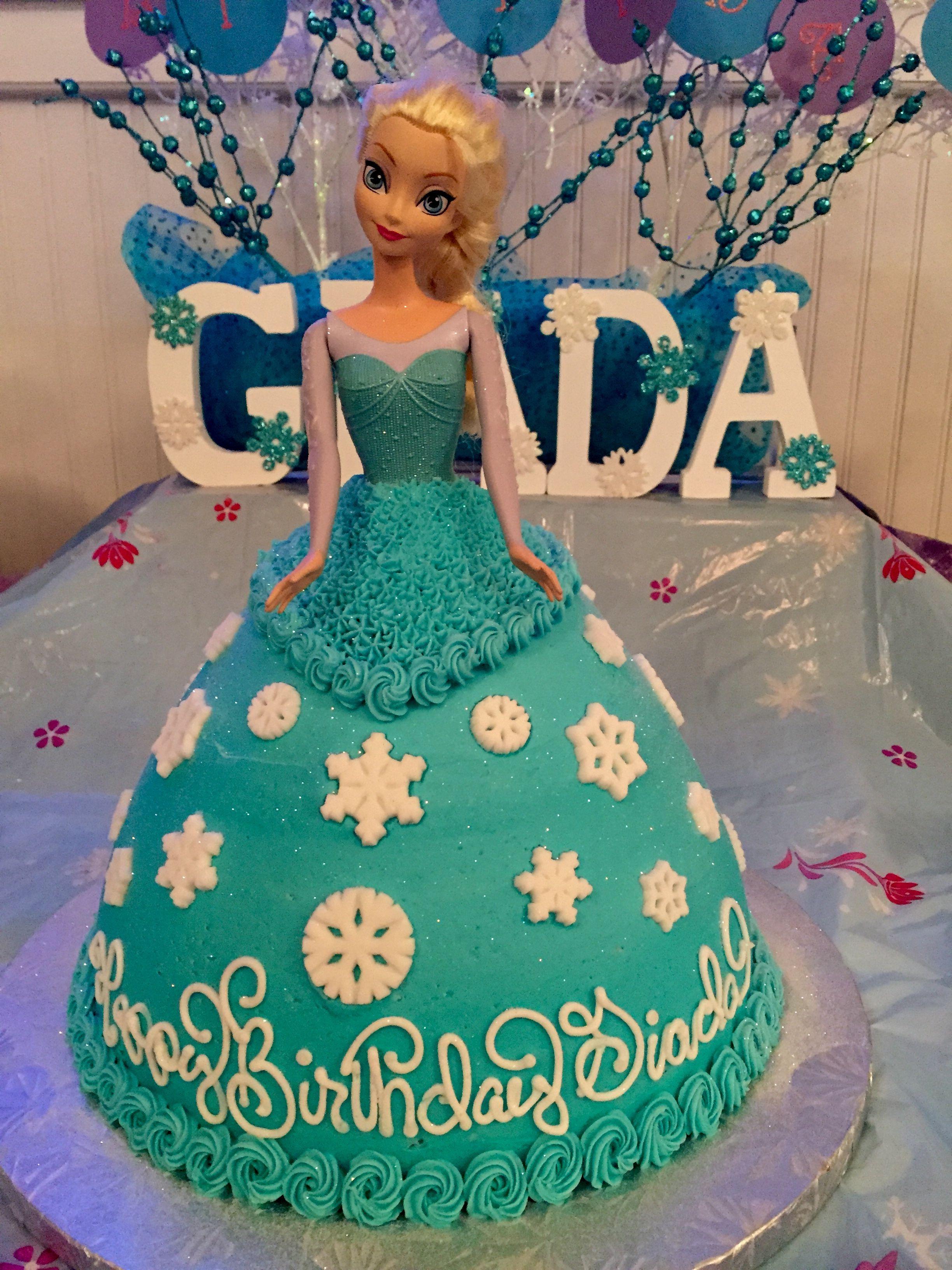 Frozen elsa doll cake Frozen party Pinterest Elsa doll cake
