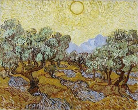 Olive trees, november 1889. Vincent Van Gogh.
