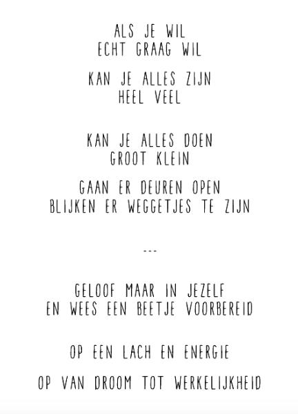 Citaten Samenwerken Live : Als je echt graag wil muur gedicht gedichten citaten