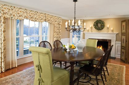Mixing Furniture Gives The Formal Dining Room A Casual Yet Sophisticated Feel Its Table Accented