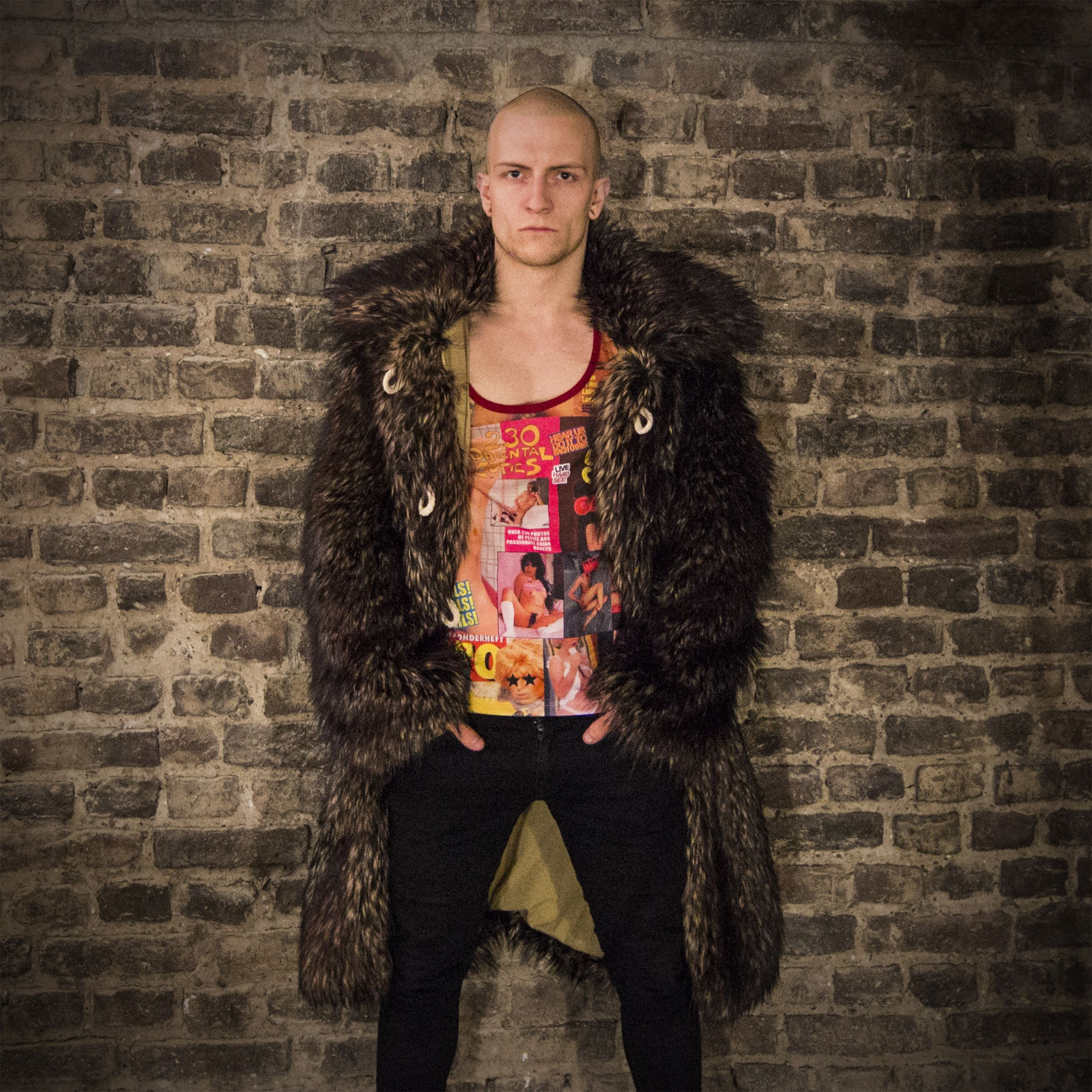 Tyler Durden Fur Coat Fight Club TAILOR MADE - Black Sugar