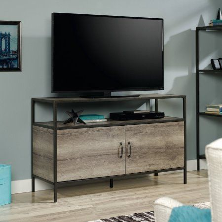 Mainstays Metro Tv Stand For Tvs Up To 50 Inch Grey Oak Finish