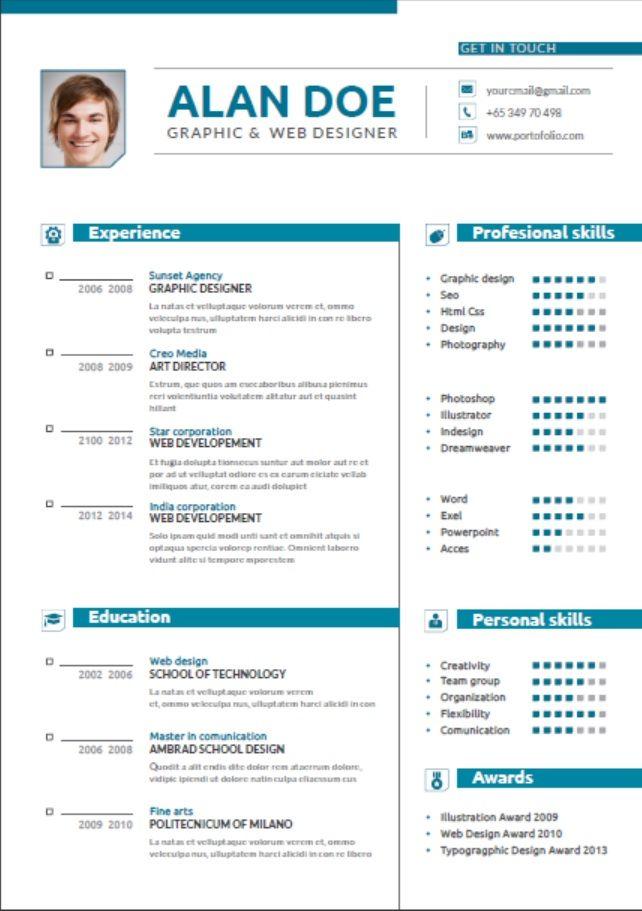 Clean Resume Blue Resume Design Professional Clean Resume Resume