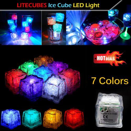 litecubes ice cube lights led light up lamp party xmas pubs bars
