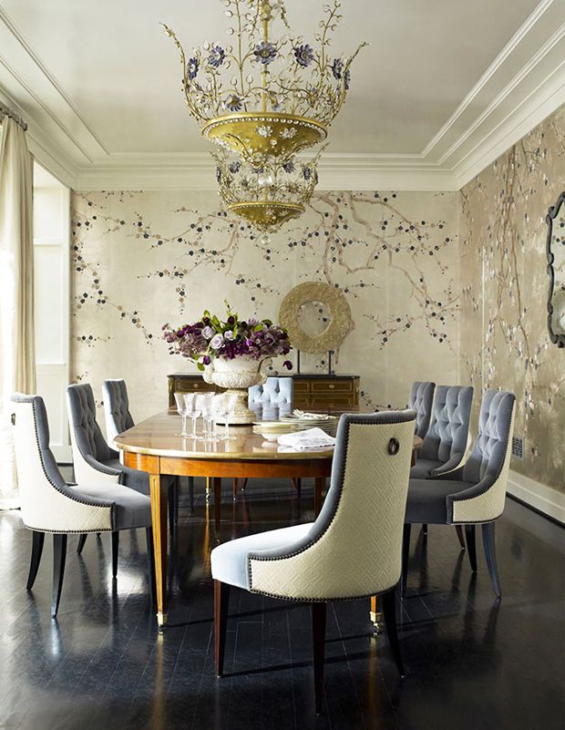 22 BreathTaking Interiors with de Gournay Wallpaper