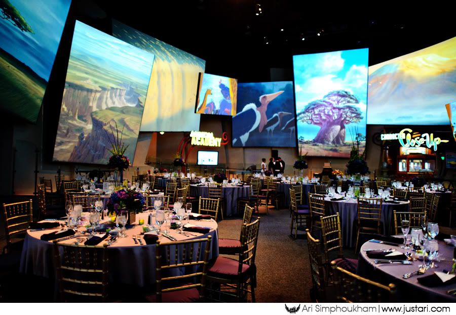 The Animation Studio In California Adventure As A Wedding Reception Venue Can You Imagine Scenes From Disney Movies Looping Endlessly All Around