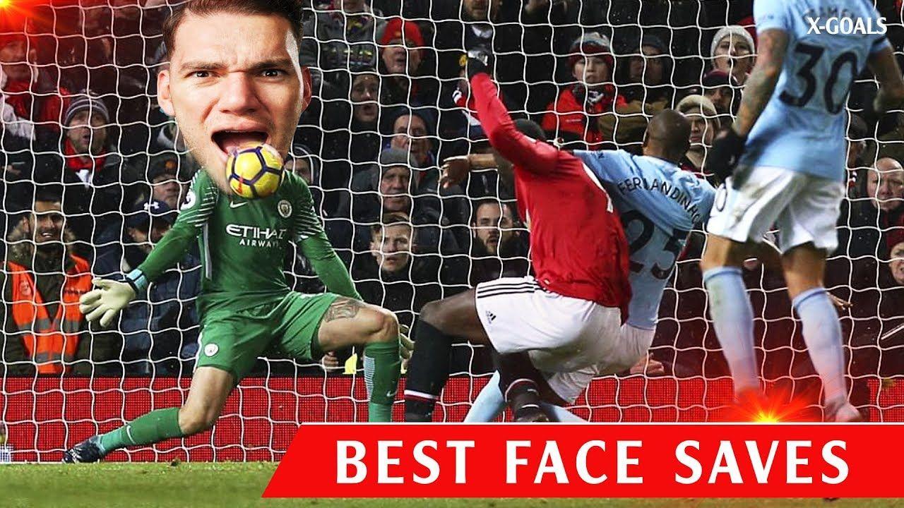 BEST GOALKEEPER FACE SAVES • FUNNY FOOTBALL HEADSHOT