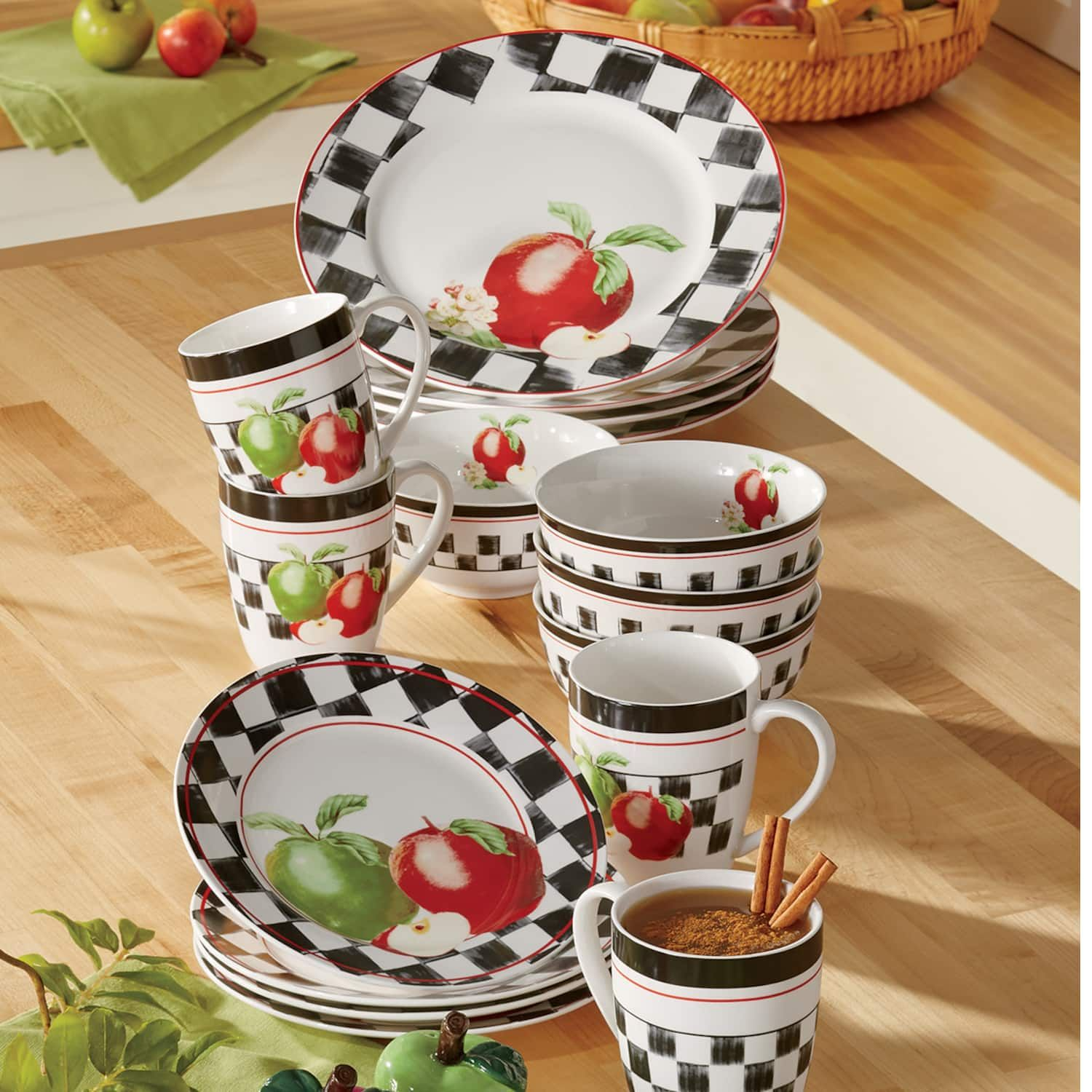 Harlequin Apple Dinnerware Set Ginny S Farmhouse Dinnerware