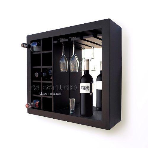 Cava cantina mueble contemporane para vinos copas de pared 1 bar muebles - Muebles para vino ...