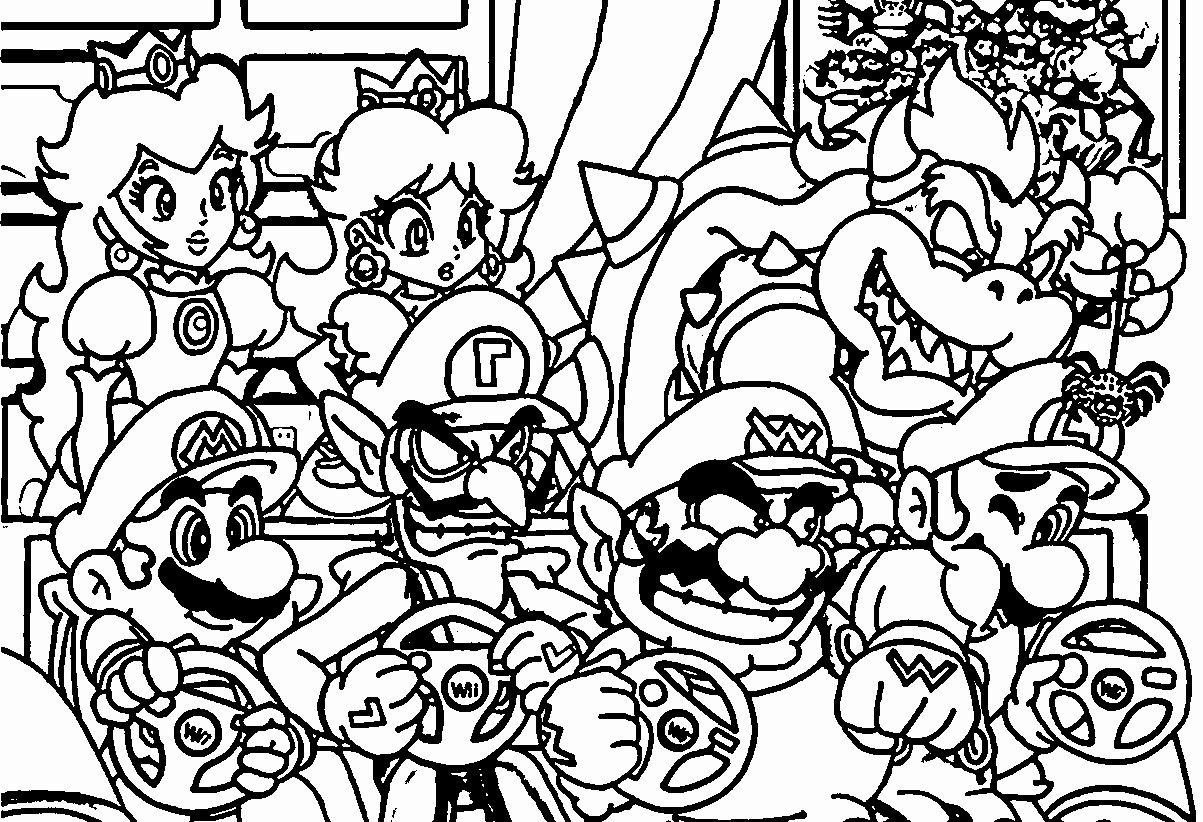 Super Mario Coloring Page Unique All Mario Characters Coloring