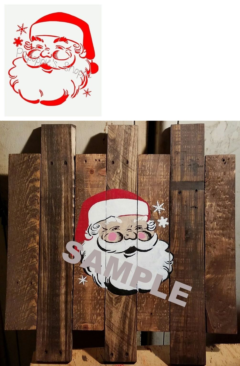 "Santa Claus Face Christmas 8.5/"" x 11/"" Stencil FAST FREE SHIPPING"