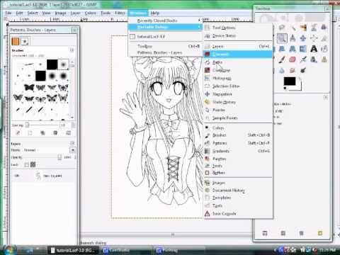 Coloring Anime Drawings On Gimp Part 1 Setup Anime Drawings Gimp Drawings