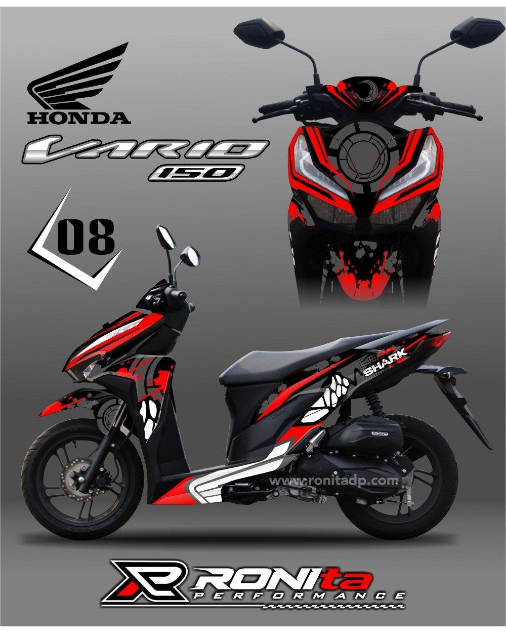 image modifikasi sticker honda vario 150 custom sticker 2019 di 2020 stiker modifikasi sticker honda vario 150