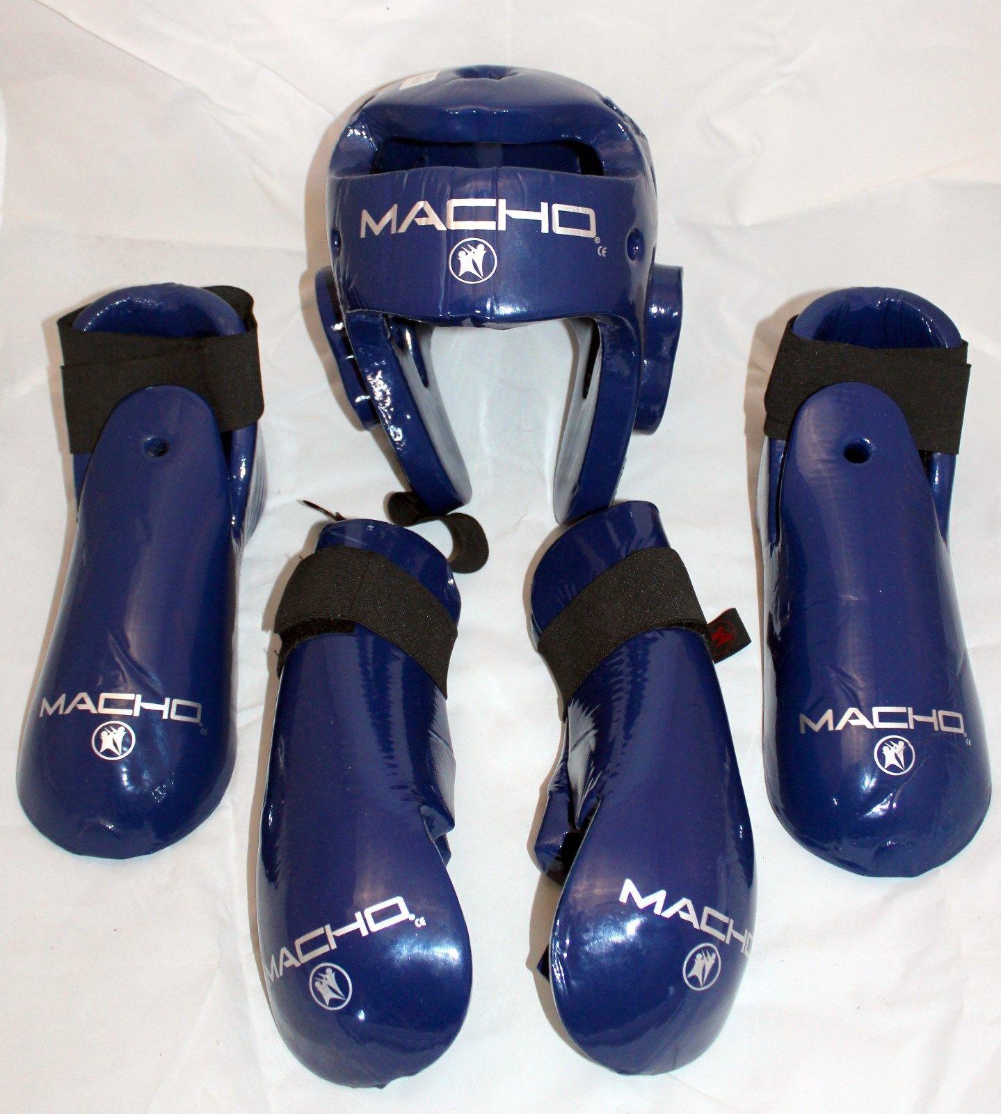 Macho DYNA Blue Sparring Gear  karate sparring DYNA BLUE 5 piece set