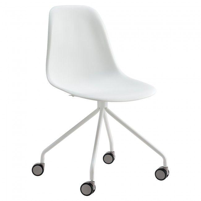 Schreibtischstuhl weiß holz  en.casa]® Bürostuhl weiß Büro Schreibtischstuhl Drehstuhl Stuhl ...